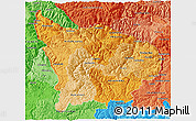 Political Shades 3D Map of Apurimac