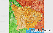 Political Shades Map of Apurimac