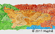 Political Shades Panoramic Map of Apurimac