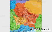 Political Shades 3D Map of Cuzco