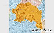 Political Map of Espinar, lighten