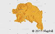 Political Map of Espinar, single color outside