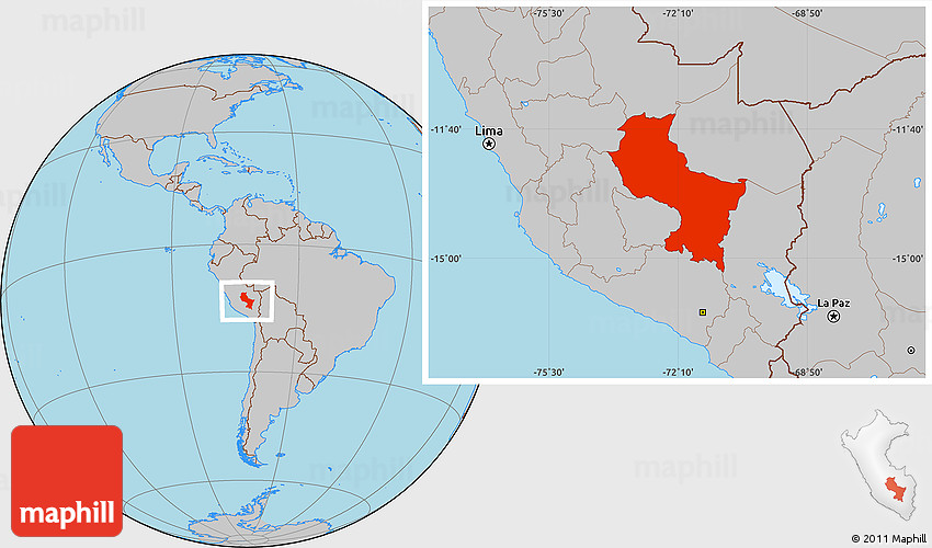 Gray Location Map of Cuzco