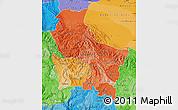 Political Shades Map of Cuzco