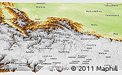 Physical Panoramic Map of Cuzco