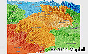 Political Shades Panoramic Map of Huancavelica