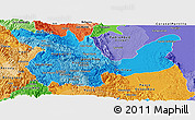 Political Shades Panoramic Map of Huanuco
