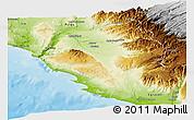 Physical Panoramic Map of Nazca