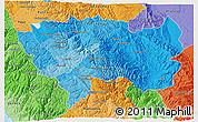 Political Shades 3D Map of Junin