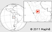 Blank Location Map of Chanchamayo