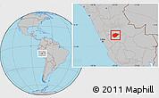 Gray Location Map of Chanchamayo