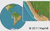 Satellite Location Map of Chanchamayo