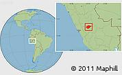 Savanna Style Location Map of Chanchamayo