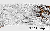 Physical Panoramic Map of Huancayo
