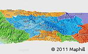 Political Shades Panoramic Map of Junin