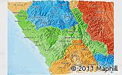 Political Shades 3D Map of La Libertad