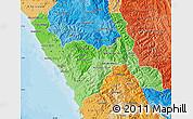 Political Shades Map of La Libertad