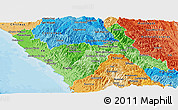 Political Shades Panoramic Map of La Libertad
