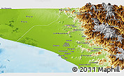 Physical Panoramic Map of Lambayeque