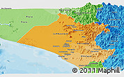 Political Shades Panoramic Map of Lambayeque