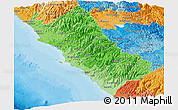 Political Shades Panoramic Map of Lima
