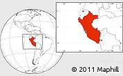 Blank Location Map of Peru