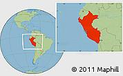Savanna Style Location Map of Peru