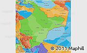 Political Shades 3D Map of Loreto