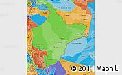 Political Shades Map of Loreto