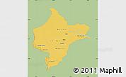 Savanna Style Map of Loreto, single color outside