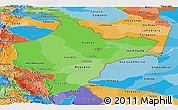 Political Shades Panoramic Map of Loreto