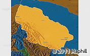 Political Map of Manu, darken