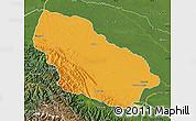 Political Map of Manu, satellite outside