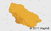 Political Map of Manu, single color outside