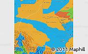 Political Map of Madre de Dios