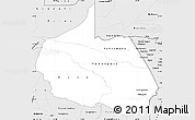 Silver Style Simple Map of Madre de Dios