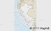 Classic Style Map of Peru
