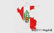 Flag Map of Peru