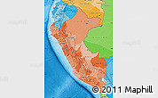Political Shades Map of Peru