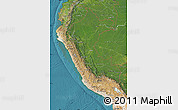 Satellite Map of Peru