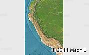 Satellite Map of Peru