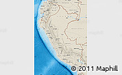 Shaded Relief Map of Peru