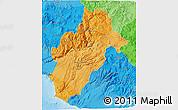 Political Shades 3D Map of Moquegua