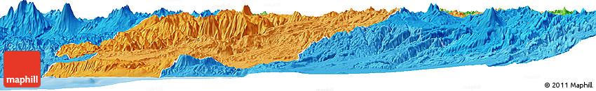 Political Shades Horizon Map of Moquegua