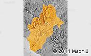 Political Shades Map of Moquegua, desaturated