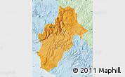 Political Shades Map of Moquegua, lighten