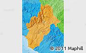 Political Shades Map of Moquegua