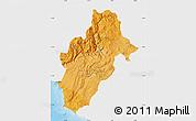 Political Shades Map of Moquegua, single color outside