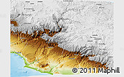 Physical Panoramic Map of Moquegua