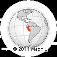 Outline Map of Peru